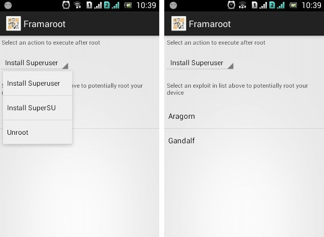 how to root using framaroot and supersu