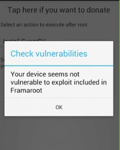 framaroot error check vulnerabilities, no exploit found
